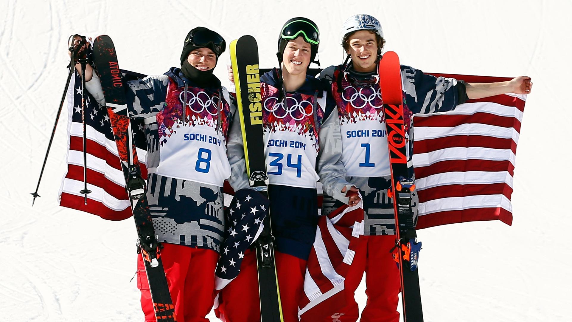 USA sweeps ski slopestyle podium at Sochi 2014
