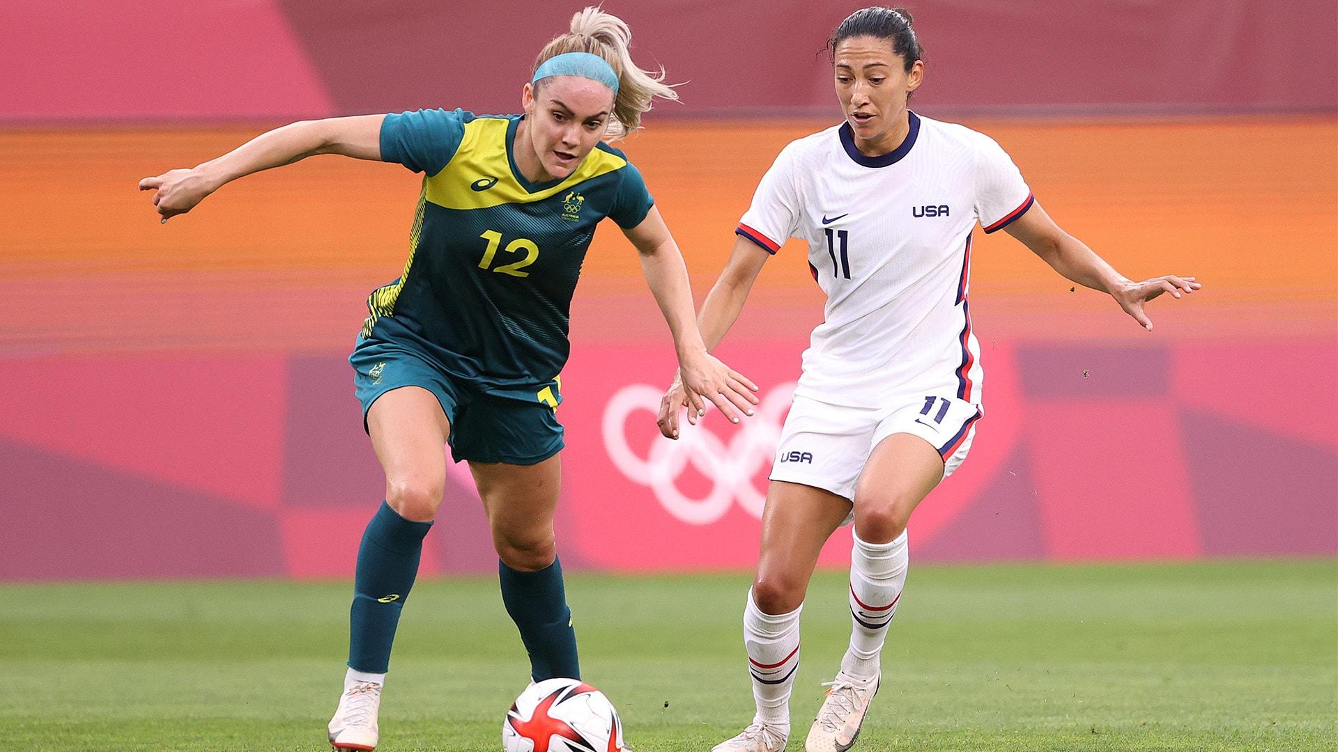Image for U.S. women held scoreless by Australia in group stage finale