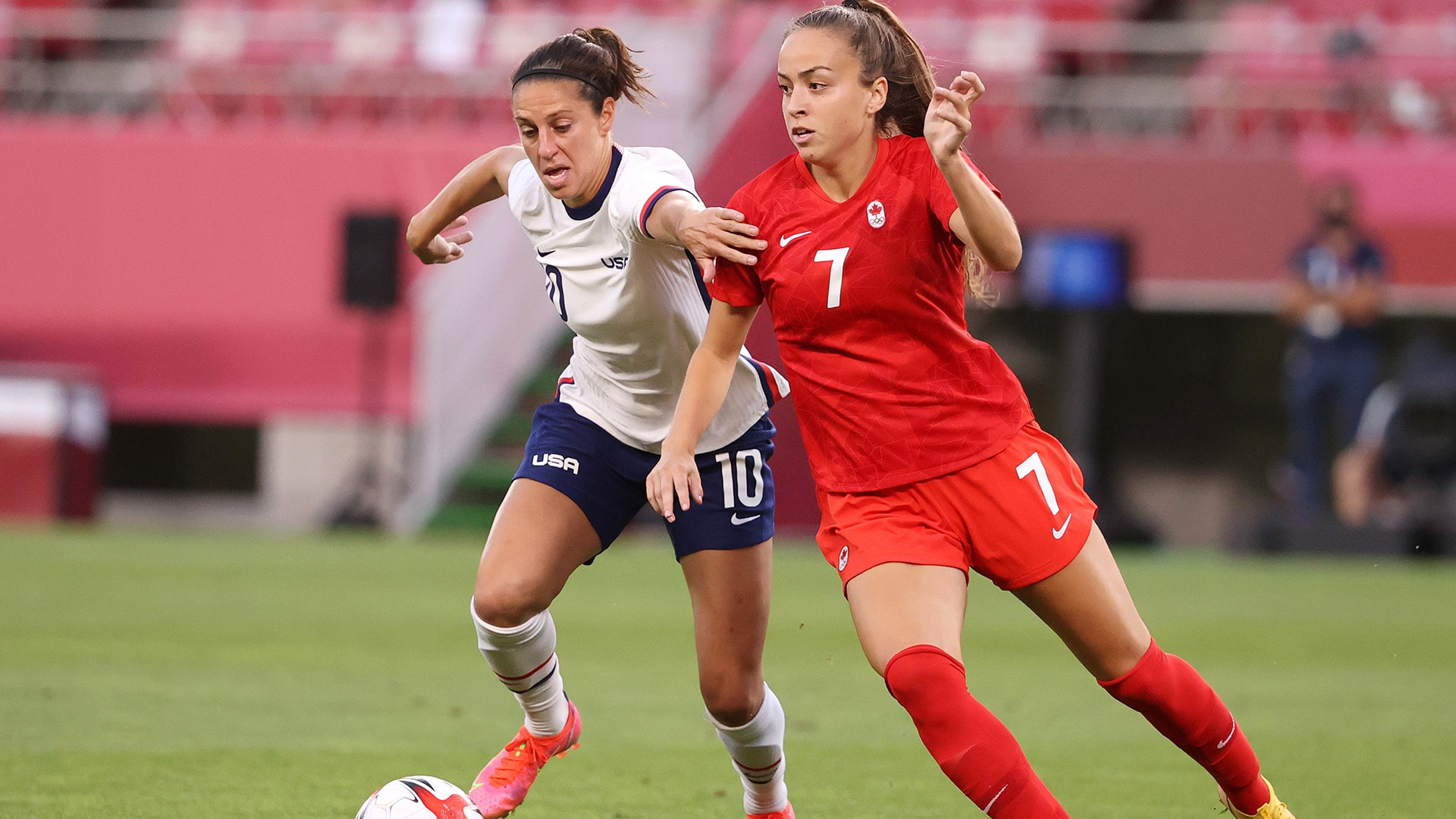 Image for USWNT falls to Canada in semifinal on late VAR decision