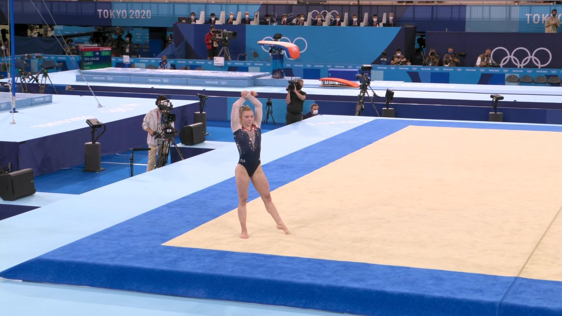 Image for Jade Carey nails dazzling floor routine, wins gold
