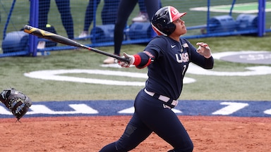 Image for U.S. downs Japan in preview of gold medal softball game