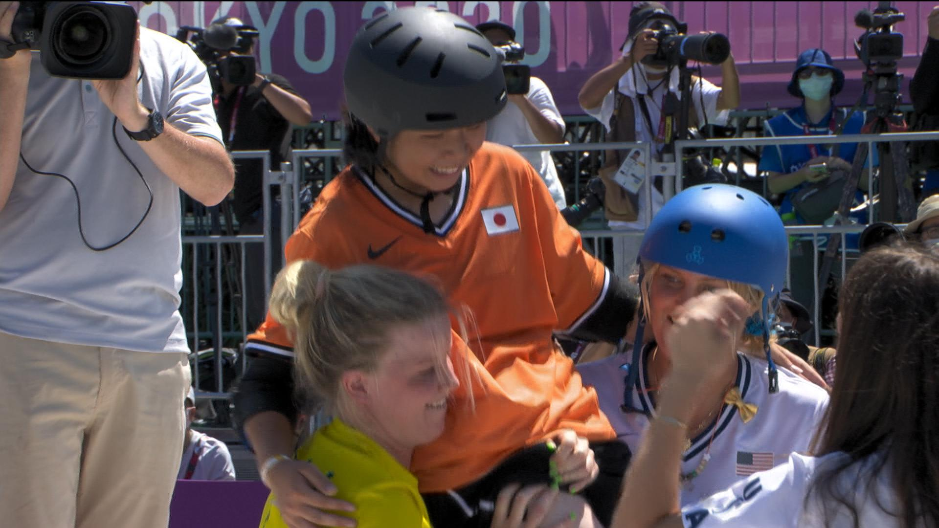 Image for No medal, but a great memory for skateboarder Okamoto