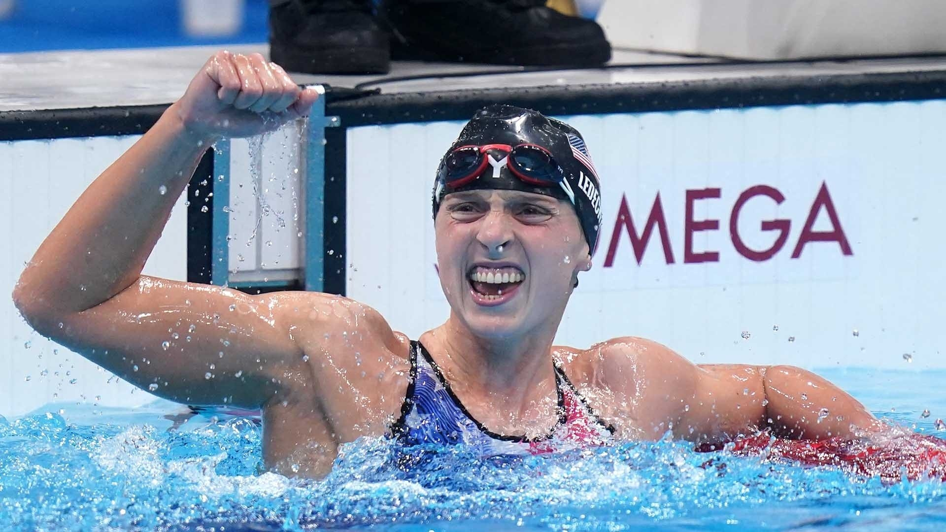 Image for Katie Ledecky shines in first Olympic women's 1500 final